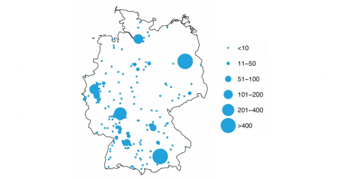 Mapping the data science hotspots in Germany
